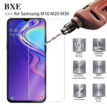 цена на BXE 9H Screen Protector On The For Samsung M10 M20 M30 M 20 Tempered Glass Protective Film For Samsung SM-M105F SM-M205F Glass