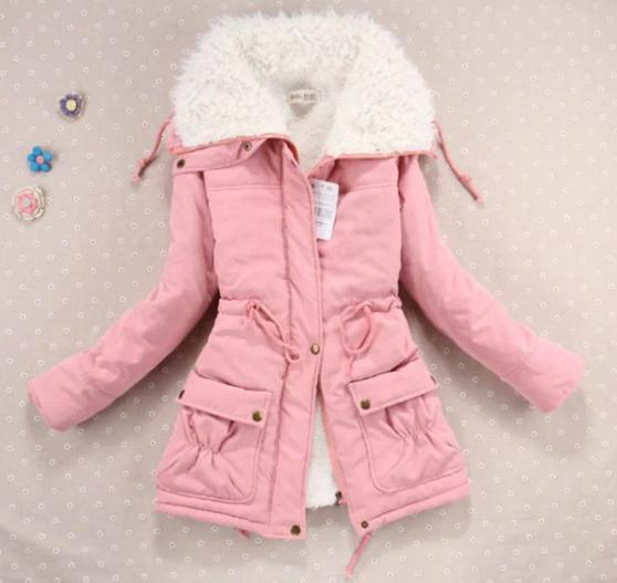Women's   jacket   explosion models 2019 new women's cotton coat new 6-color cotton women   basic   coat   jacket   9863