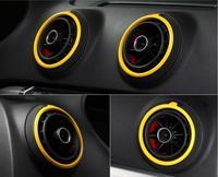 Neu! 4 stücke Gelb Klimaanlage Vent Outlet Ring Ersatz Abdeckung Trim Für Audi A3 S3 2013 2014 2015 2016 2017-in Innenformteile aus Kraftfahrzeuge und Motorräder bei