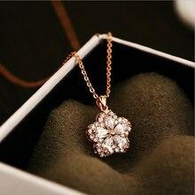 Женское ожерелье с подвеской в виде цветка вишни