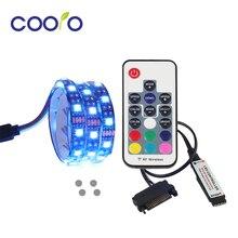 Магнитный RGB Светодиодные полосы света полный комплект для ПК компьютерный корпус, интерфейс питания SATA, фиксированный магнитом, цвет пульта дистанционного управления