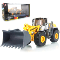 KAIDIWEI 1:50 scale alloy engineering vehicle model four wheel loader forklift heavy forklift toy car kid toys gift