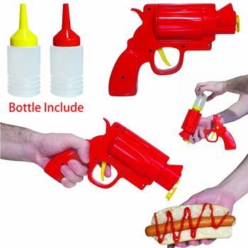 Plastic Sauce Bottle Condiment Dispenser - Revolving Pistol Bottle 1