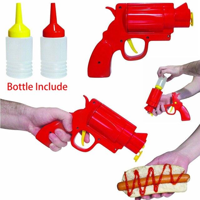 Plastic Sauce Bottle Condiment Dispenser - Revolving Pistol Bottle 1