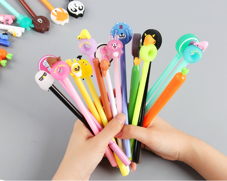 4 Pens/Set Kawaii Cute Gel Pen Set 0.5mm Erasable Pen Black Ink Gel Pens Erasable 15 pcs flash gel pen erasable pen refills length 111mm diameter 6mm leather fabric markings pens water soluble color refills