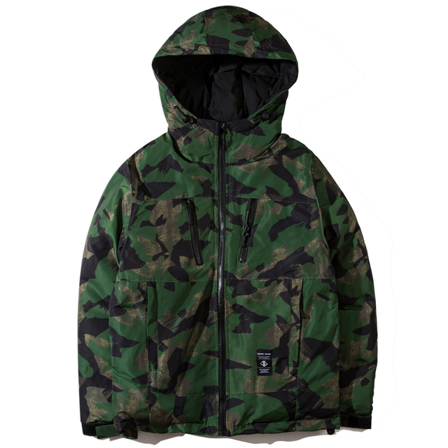 Drop Shipping Men's Fashion Camouflage Parkas Casual Winter Jacket Men Military Tactical Overcoat Padded Streetwear ABZ34