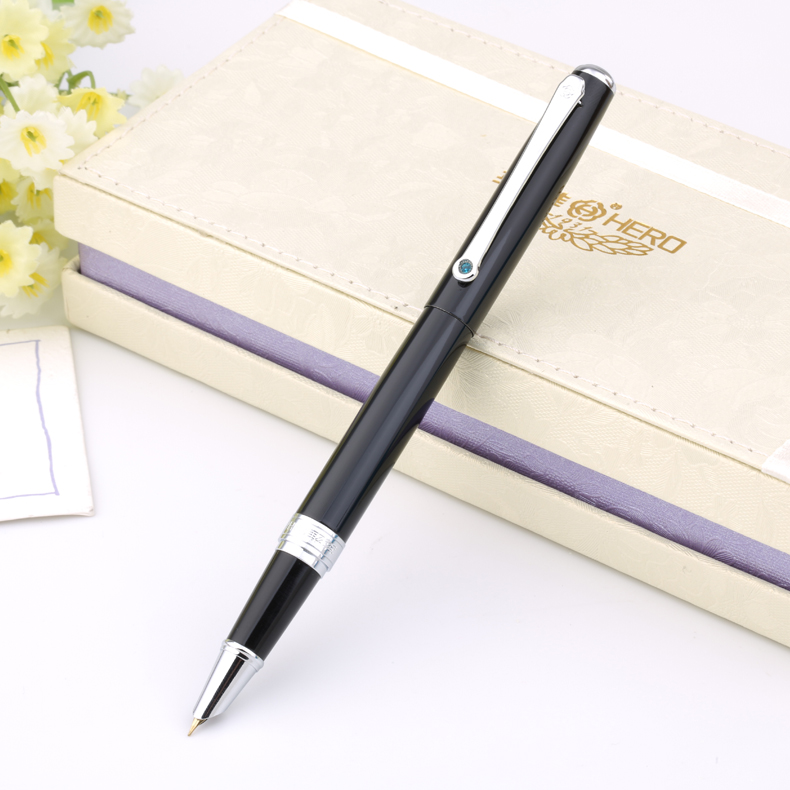 Free Shipping Hero Brand 1361 Ink Pen High Quality Office Supplies and Original Box Student Stationery цена 2017