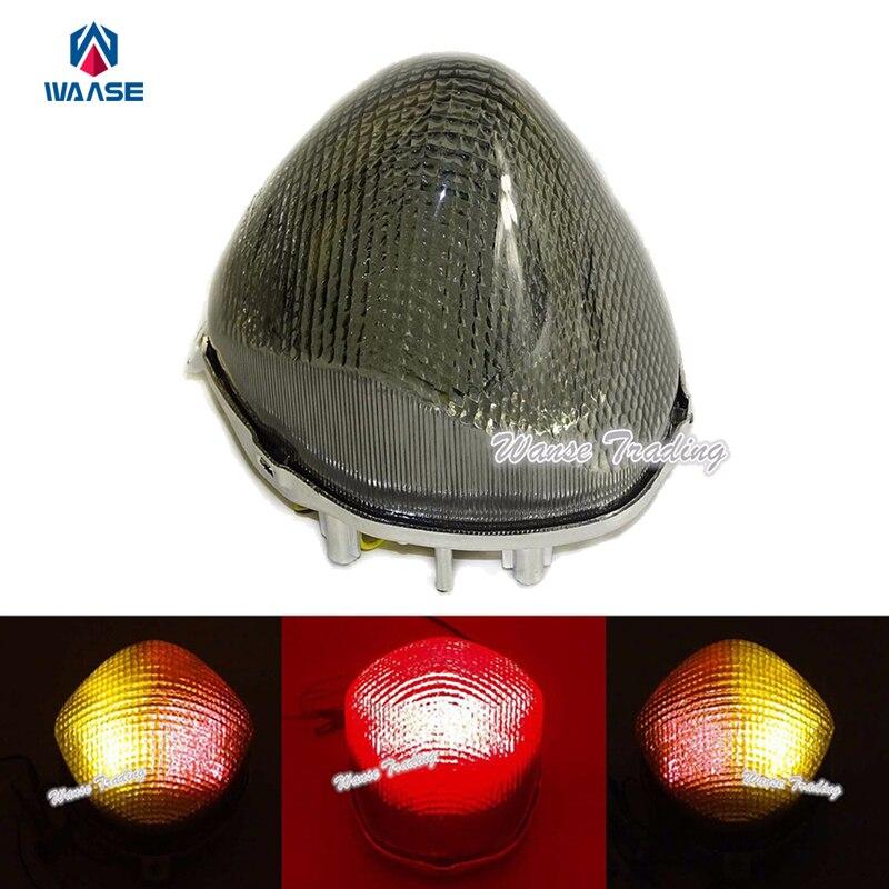 Waase pour Suzuki Katana 600 750 GSX600F GSX750F 1998 1999-2002 e-mark arrière feu stop clignotants intégrés lumière LED