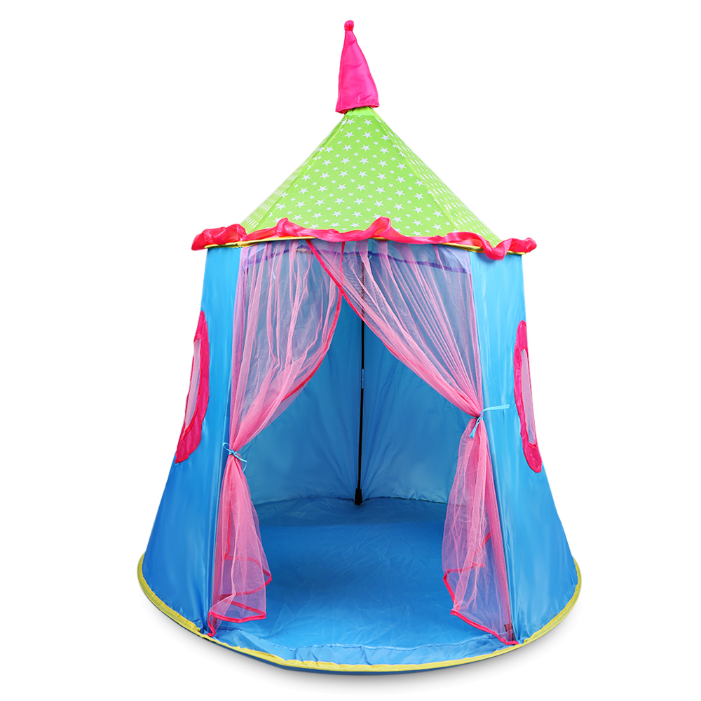 Foldable Princess Castle Kids Play Tent Indoor / Outdoor Use Camping Traveling Sports Waterproof PlayhousesFoldable Princess Castle Kids Play Tent Indoor / Outdoor Use Camping Traveling Sports Waterproof Playhouses