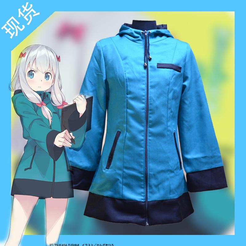 Chaud Anime eromanga sensei cosplay Izumi Sagiri cos japonais quotidien chandail Halloween cosplay costumes manteau + coiffure