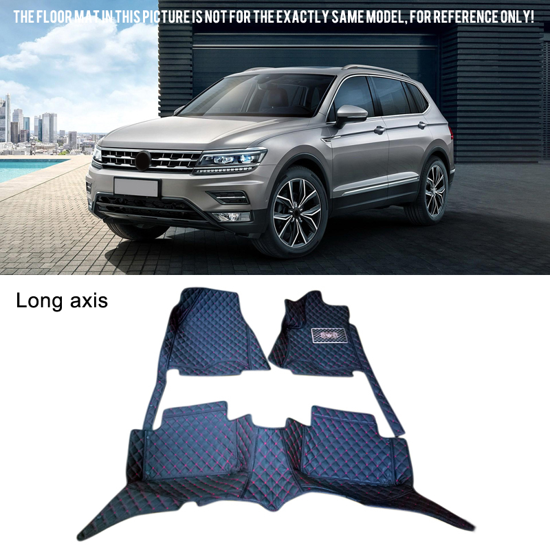 Left  Hand Drive! Interior Leather Floor Mats & Carpets Short / Long wheelbase  For VW Volkswagen Tiguan 2016-2017 for vw volkswagen tiguan second generation 2016 2017 interior artificial leather floor carpets foot mat car styling