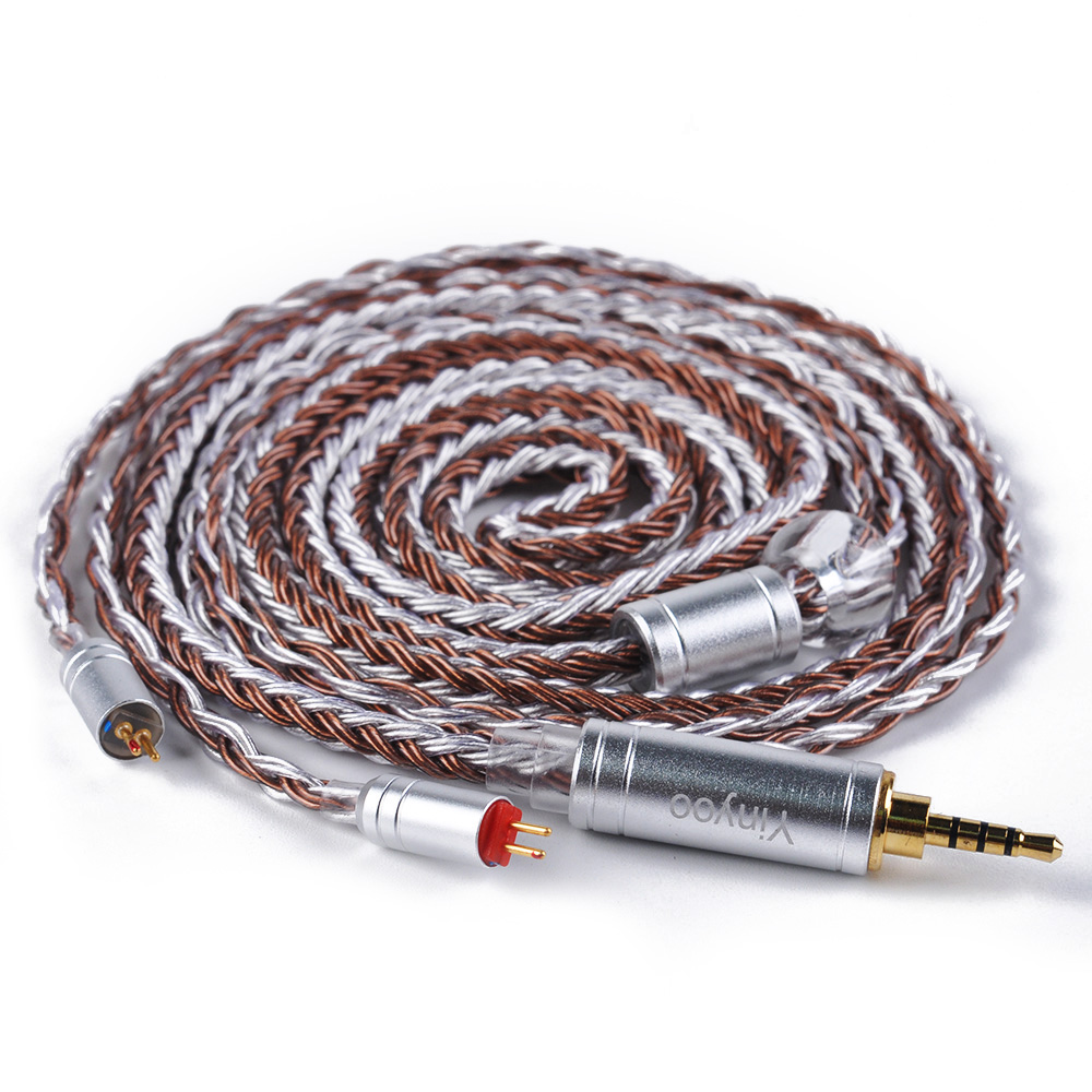 Yinyoo 16 Core Silver Plated Cable 2.5/3.5/4.4mm Balanced Cable With MMCX/2pin Connector For LZ A5 HQ8 ZS10 AS10 HQ12 C10