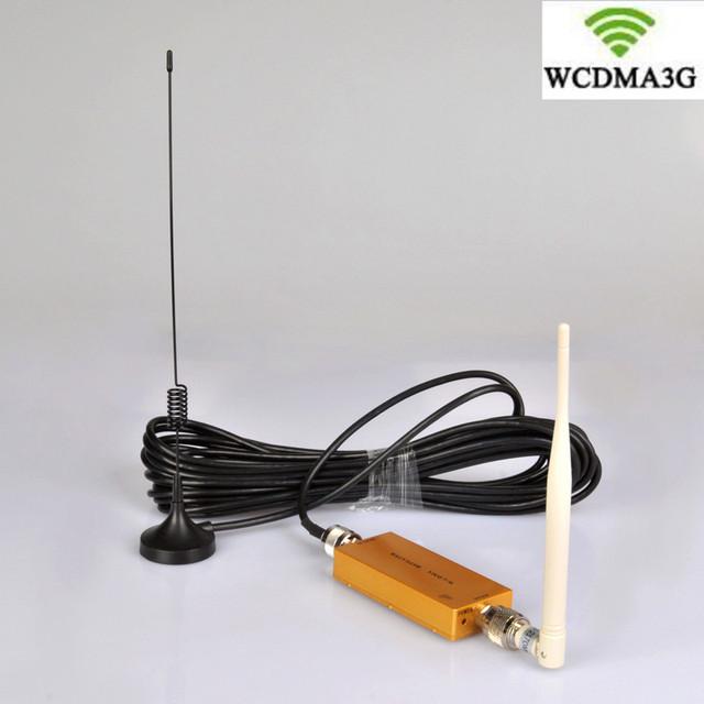 Mini W-CDMA 2100 Mhz 3G Repetidor de Sinal de Telefone Móvel 3G WCDMA Repetidor de Sinal Amplificador Booster Cabo Com Otário antena