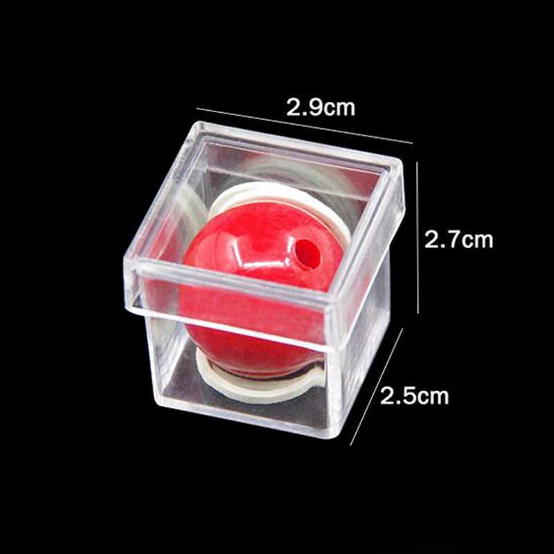 Piccola Palla Penetrare trucchi Di Cristallo Scatola magica illusione puntelli trucos de magia del giocattolo del commercio all'ingrosso E3091