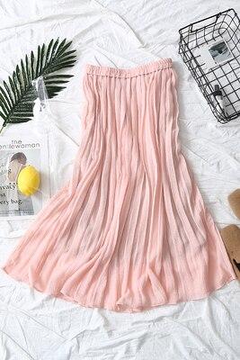 Stock Faldas De En Sólido Envío Drak Empalme Libre Pleater rosado Paquete Nalgas Blue Moda blanco Gasa TnapgwRPxq