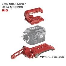 PARA câmera Rig BlackMagic BMD URSA Mini Pro 4.6 K 15mm Gaiola Baseplate VCT-14 V bloqueio versão Top almofada de Ombro alça braço de Extensão