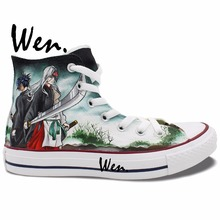 Wen Custom Anime Noragami Hand Painted Skateboarding Shoes Sneakers Choose Gifts High Top Outdoor Activities Clause Unisex Shoes