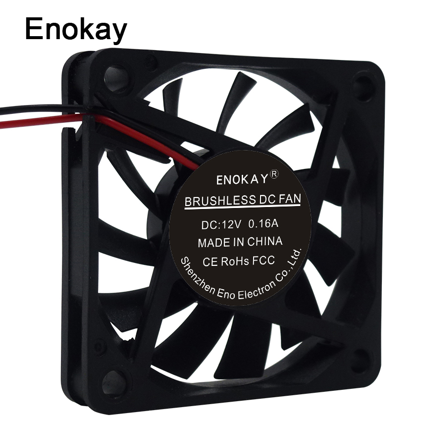 Big Airflow 12V 2pin 60mm 60x60x10mm Ventilation DC Computer Cooler Cooling Fan