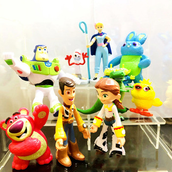 2019 Modello Action Figure Toy Story 4 Buzz Lightyear Woody Jessie Lotso Bullseye Cavallo Figura Giocattoli Compatibile Toy Story 4