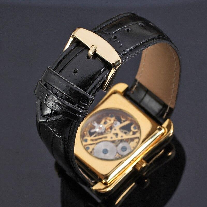 retângulo dial design padrão de ouro oco