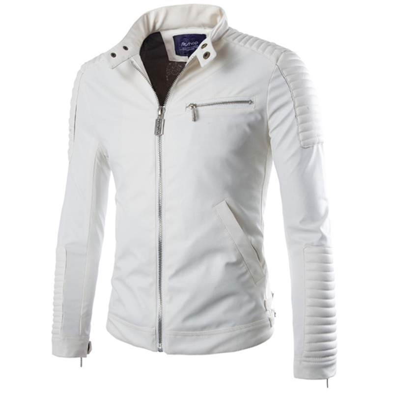 Compare Prices on White Leather Motorcycle Jackets for Men- Online
