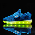 Hot Girls light up led luminous children shoes boys glowing  fashion with USB new simulation sole charge for kids neon basket