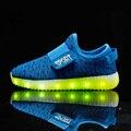 Meninas quentes acender led luminoso crianças shoes meninos brilhantes moda USB com nova simulação único responsável para crianças neon cesta