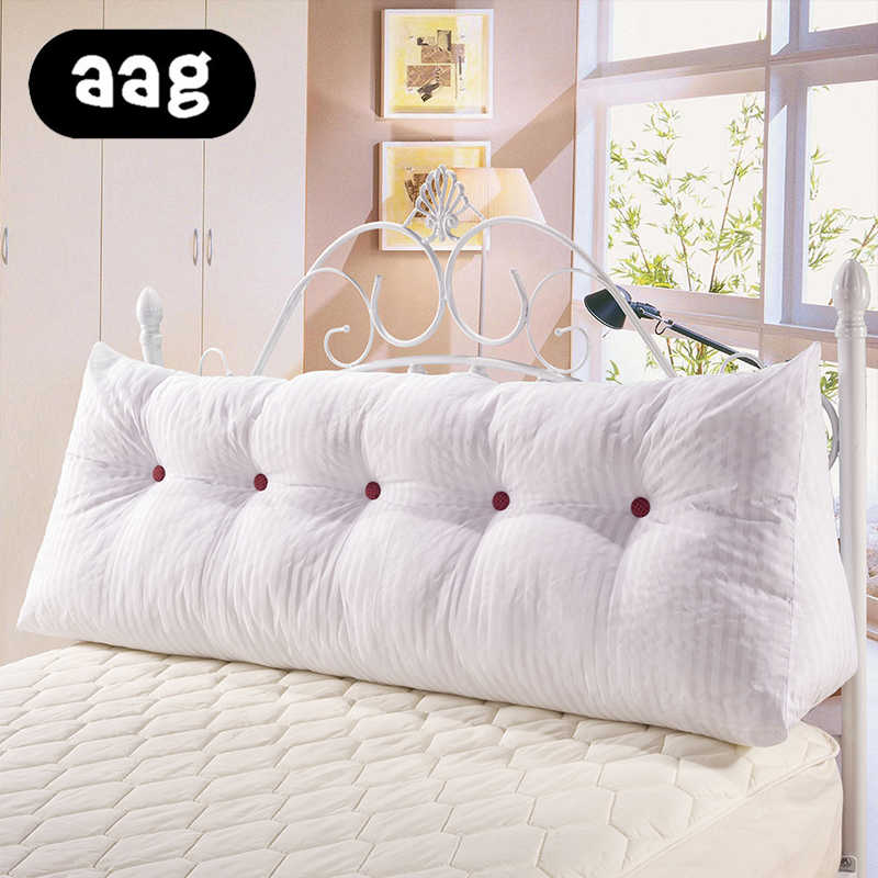 aag solid linen cotton wedge pillow for