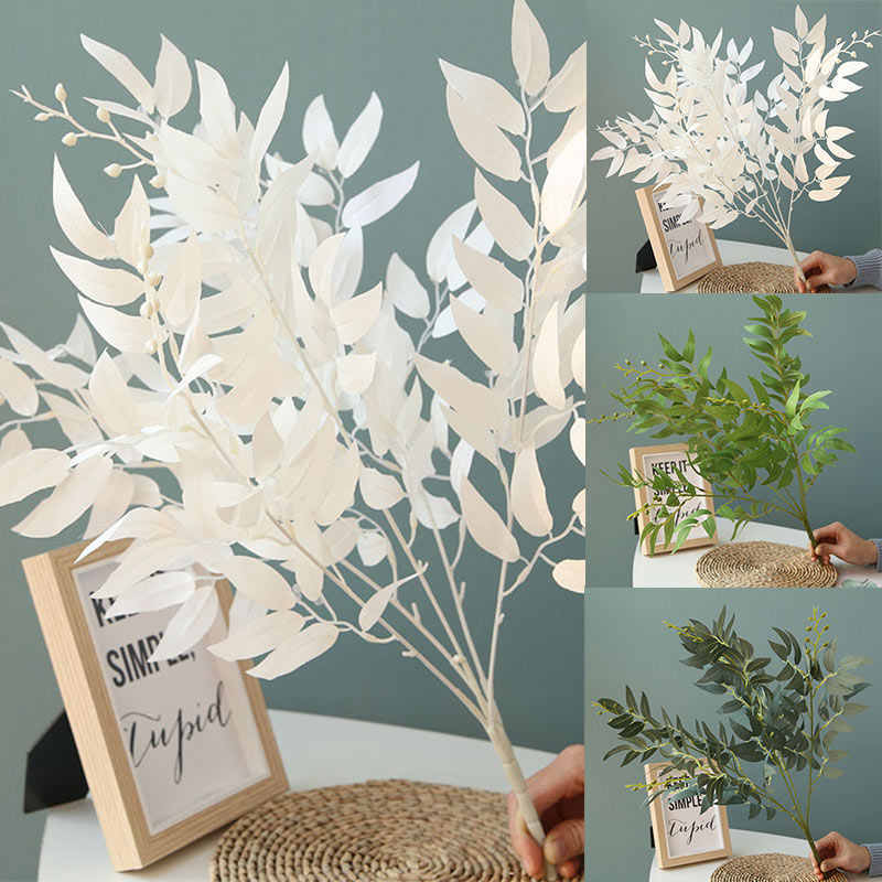 1PC Hot Artificial Willow Bouquet Fake Leaves Plants For Home Christmas Wedding Party Decoration