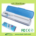2014 Portable travel toothbrush box high quality UV-C light toothbrush sanitizer