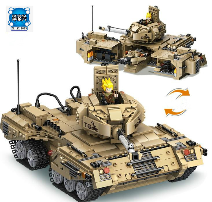 Model Building Kits Compatible with Lepins Weapons Base Transformation Tank Blocks Educational Bricks Figures Toy for Children viruses cell transformation and cancer 5
