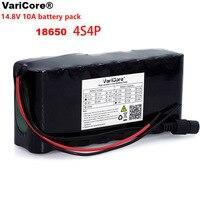 Varicore 14.8 v 10ah 18650 li-iom bateria pacote noite lâmpada de pesca aquecedor mineiro lâmpada amplificador bateria com bms
