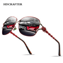 HDCRAFTER Oversized Sunglasses for Women Polarized Vintage R