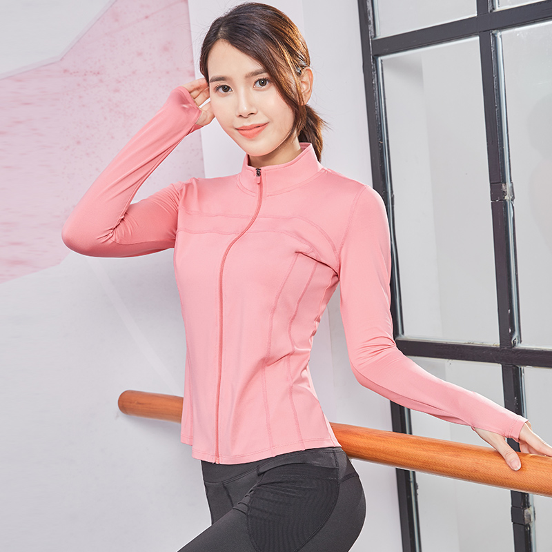 EDONNICA Zipper Running Jackets Femme Gym Shirts Top Slim Sports Fitness Women Jersey Long Sleeve Workout Active Wear