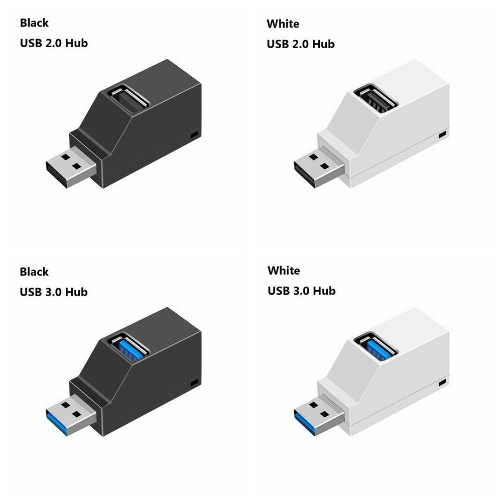 Mini 3 Ports USB 3.0 séparateur moyeu haute vitesse transfert de données séparateur boîte adaptateur pour PC ordinateur portable MacBook Pro accessoires