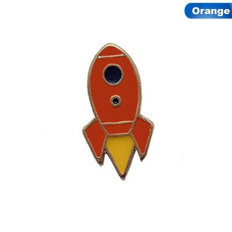 Gratis Pengiriman Cute Logam Balon Udara Panas Roket Pesawat Planet UFO Bros Pin Fashion Perhiasan Grosir