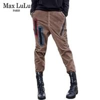 Max LuLu Luxus Marke Designer Tie Dye Womens 3d Gestreifte Jeans Denim Braun Mädchen Kreuz Hosen Elastische Damen Freund Hosen