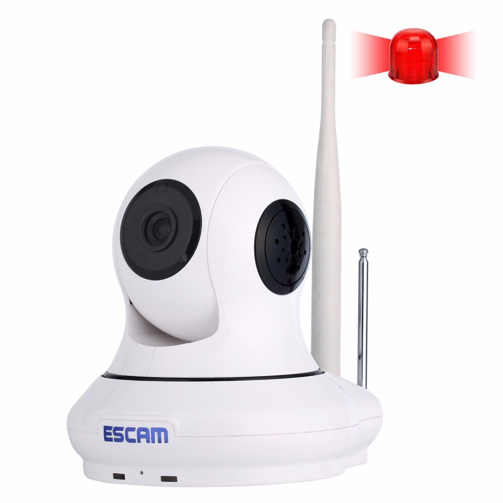 ESCAM QF500 Pan/Tilt Wifi Alarm Infrared Indoor Mini Dome IP Camera Two Way Audio HD 720P Wireless Camera Support 32GB TF Card syarin baby monitor hd 720p 1 0mp ip camera wireless wifi two way audio motion detection alarm wifi camera tf card slot pan tilt
