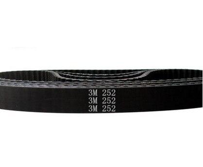 3d Printer Belt Closed Loop Rubber HTD 3M Timing Belt 84 Teeth 252mm Length 15mm Width HTD 252-3M-15 1pcs