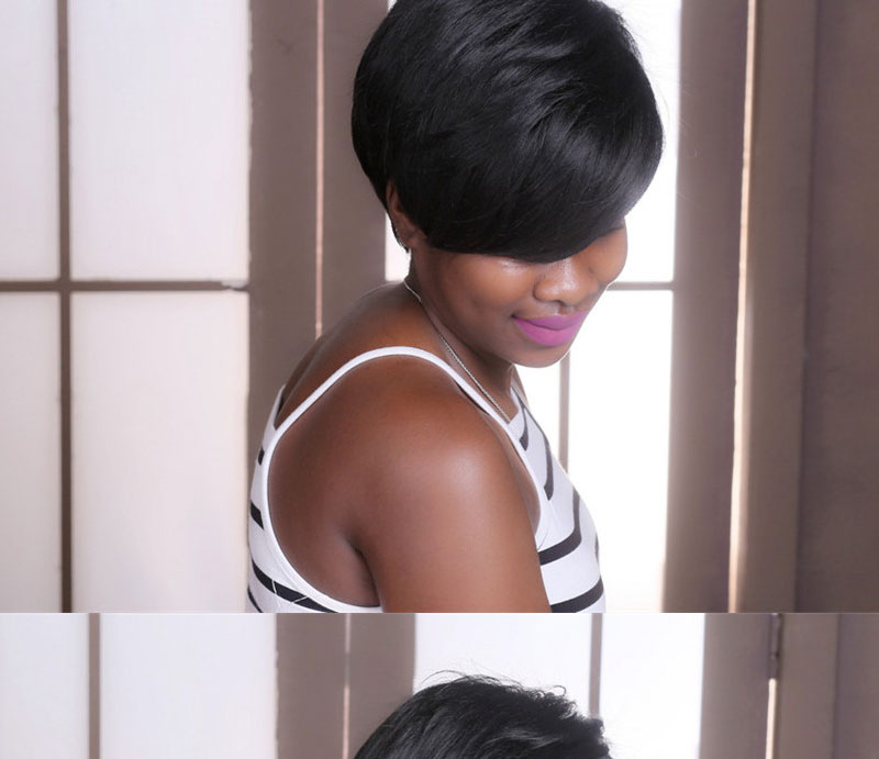 Msiwigs bobo estilo curto perucas para preto