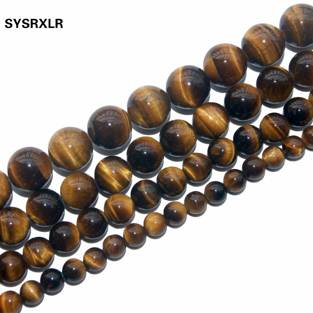 Free Delivery Natural Stone Beads Yellow Tiger Beads Scattered Beads Wholesale Semi-Finished DIY Handmade For Jewelry Making
