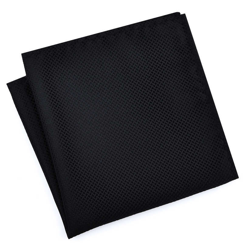 גבוהה אופנה כיס כיכר רשת ממחטה גברים אביזרי פוליאסטר ממחטת מוצק צבע מגבת mouchoir שחור לבן 22cm * 22cm