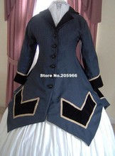 Custom Made1800s Victorian Dress-1860s Civil War Over Dress-Winter Spring Fall Outer Wear/Party Costume
