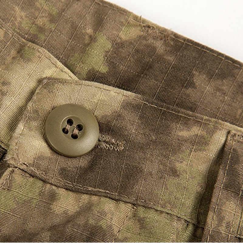 Mege Serbaguna Kantong Taktis Ripstop Celana Urban Kargo Overall Mens Pakaian Kasual Celana Tentara