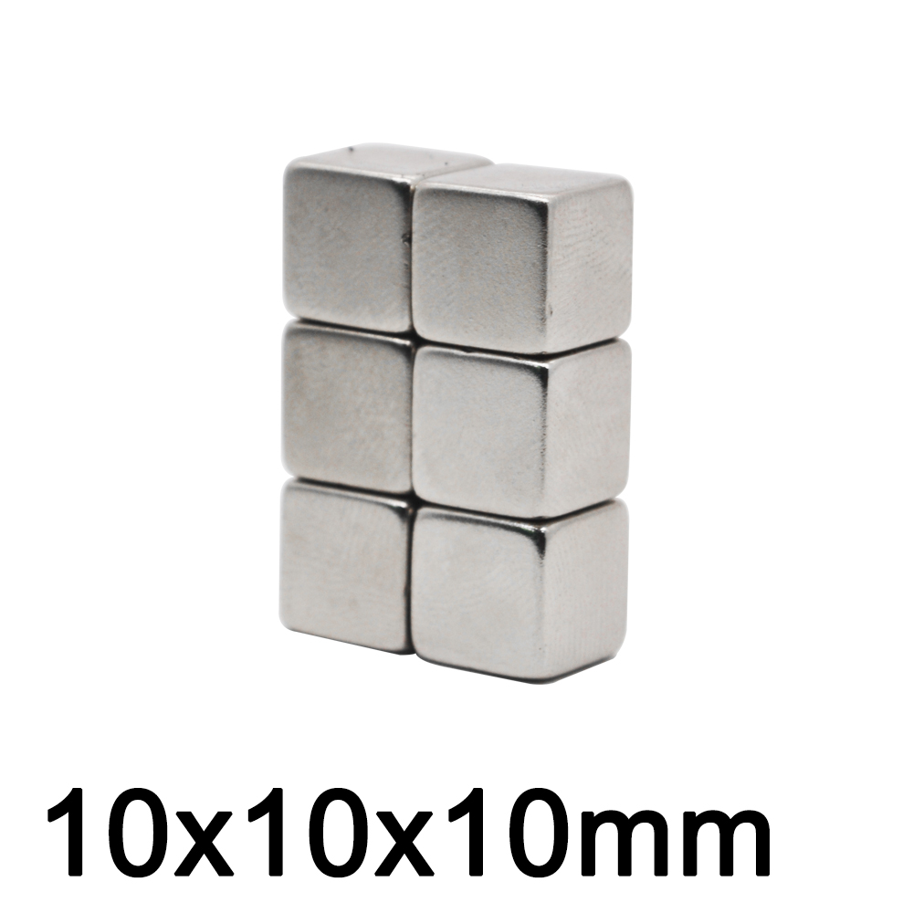 50pcs/lot <font><b>Neodymium</b></font> <font><b>magnet</b></font> Rare Earth small Strong block permanent fridge Electromagnet NdFeB nickle magnetic square image