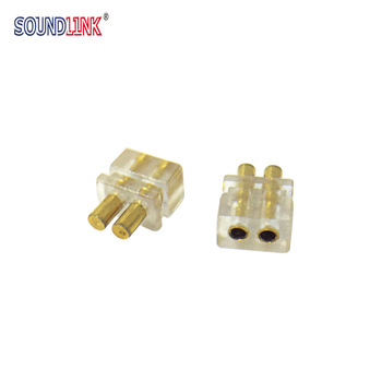 2PCS IEM In-ear Monitor Female Socket Jack 0.78 mm Earphone Pins Plug Cable Connector