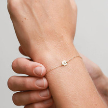 aiboduo Womens Bracelet 26 Letter Alloy Gold Color 2019 Fashion Simple Women Christmas Gift Accessories Jewelry B00037