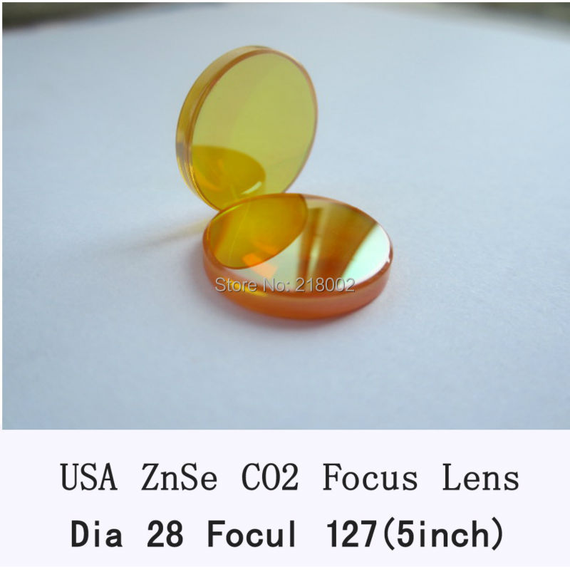 28mm USA ZnSe Focus Lens for CO2 Laser 127mm focal length CO2 Laser lens usa znse co2 laser lens 28mm dia 50 8mm 63 5mm 2inch 2 5inch focus length for co2 laser cutting machine