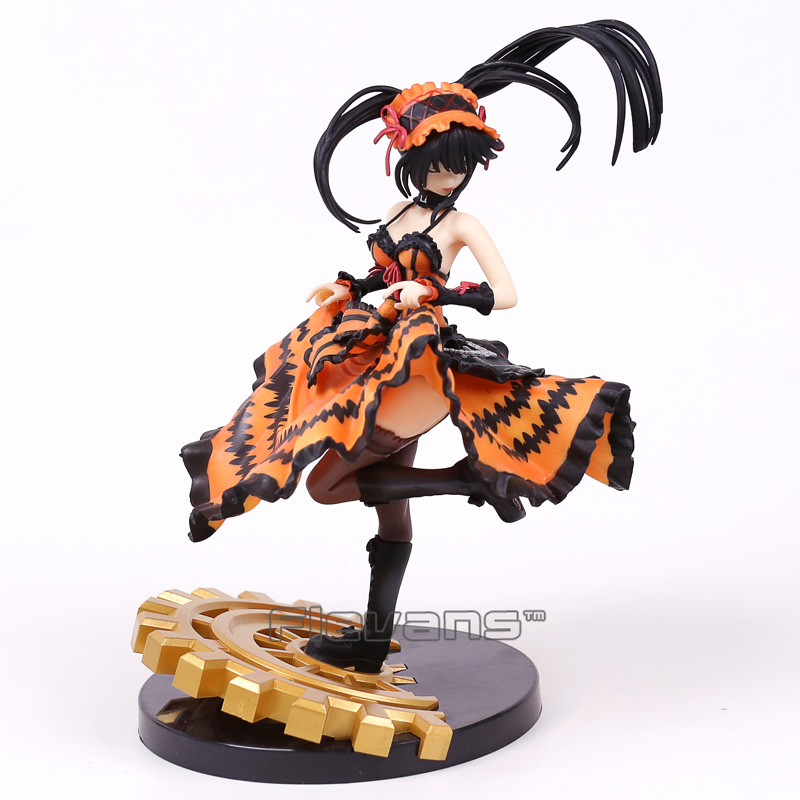 New Date A Live II Tokisaki Kurumi 1/8 Scale PVC Figure Collectible Model Toy with Retail Box 22cm 2016 new short bobo haircuts wigs silver white strike the blood date a live tobiichi origami touhou project youmu konpaku