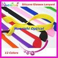 5 pcs L605 12 cores de alta qualidade elasticidade de Silicone anti-derrapante óculos Eyewear de óculos óculos de sol cordas cordão frete grátis